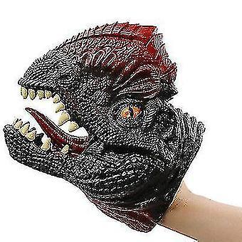 Guantes de marionetas de mano de dinosaurio, juguete modelo de dinosaurio suave para niños (S5)