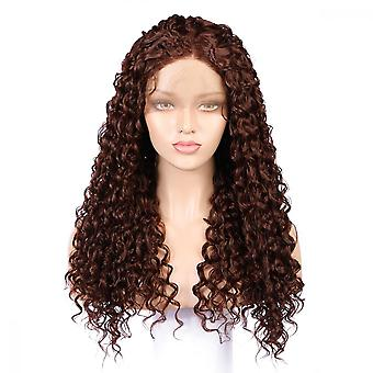 Long Kinky Synthetic Lace Front Wigs Baby Hair Loose Curly Wig