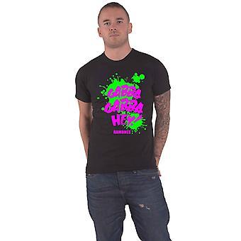 Ramones T Shirt Gabba Gabba Hey Splatter Band Logo ny officiell mens svart