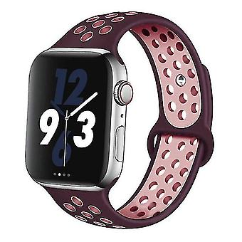Silicone Wristband Suitable For Apple Watch-breathable Bracelet (set-4)