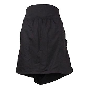 zuda Plus Skirt Skort with Pockets and 2 Ply waistband Black A381036