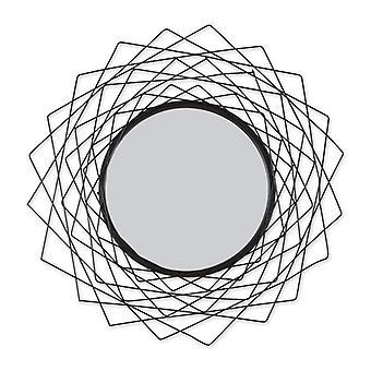 Accent Plus Metal Geometric Wall Mirror - Black, Pack of 1