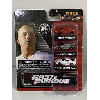Fast and Furious 3 Car Nano Set Jada NV-12 32482
