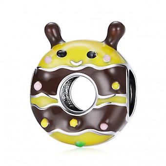 Sterling Silver Charm Little Bee Donut - 7199