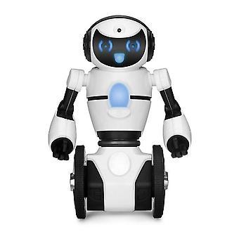 RC Robot WLtoys F4 WIFI Camera Intelligent Avoidance RC Robot With Toys Gift Toys Gifs Robot(White)