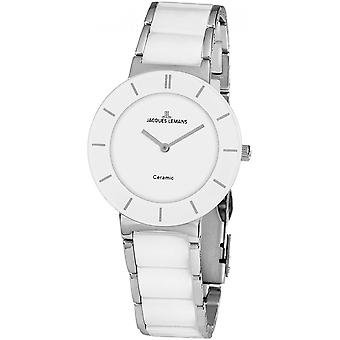 Jacques Lemans Silver Stainless Steel 1-1947B Reloj de mujer