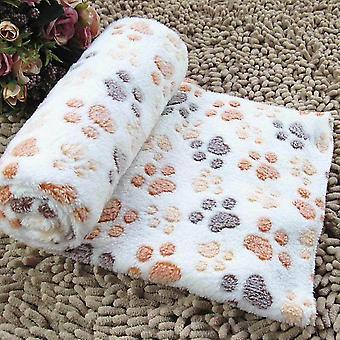 Fedél puha állati gyapjú és forró ágy fedél pad kutya kiskutya állatfehér m