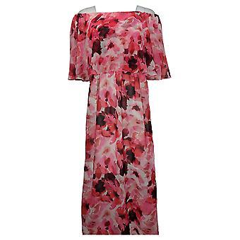 Colleen Lopez Dress Off-the-Shoulder Flutter Pink 694167
