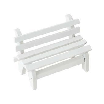 Miniatűr mikro táj dísz fa fehér dupla kerti pad tornác szék Fotó booth kellékek Lakberendezés (fehér)