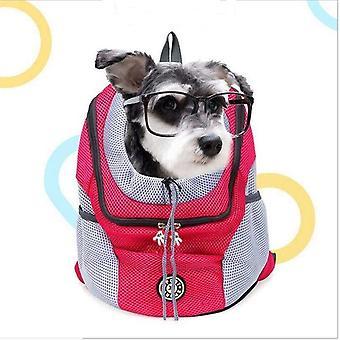 Husdjur utomhus bärryggsäck hundväska för stora små hundar 20