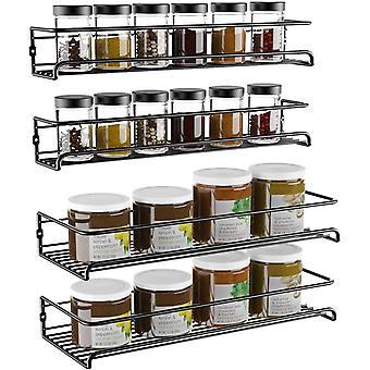 2 pakke hengende krydderstativer arrangør veggmonterte oppbevaringshyller for kjøkkenskap