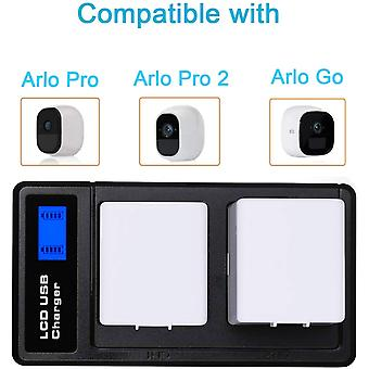 Dual Battery Charger For Arlo Pro Battery Arlo Pro 2 Battery Arlo Go Battery,lcd Battery Charger