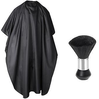 Full Length Unisex Cabeleireiro Barbeiros Vestido Pescoço Duster Recortes Escova