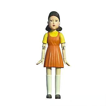 Jeu de calmar avec des poupées squelettes poupées avec les mêmes modèles dans les séries télévisées Peluches 123 personnes en bois