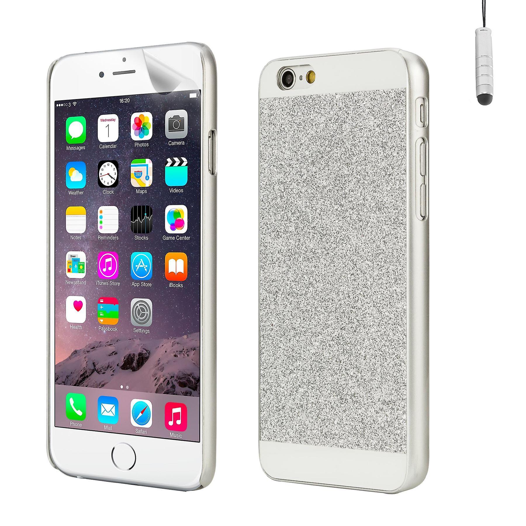 Glitter design case for Apple iPhone 6 6S - Silver