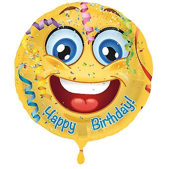Slide balon Smiley la mulți ani 43 cm balon