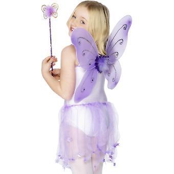 Fairy Wings Kids fairy fairy fairy costum LILA aripi