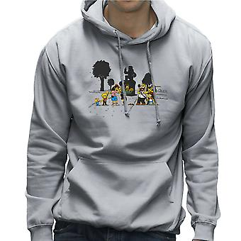 Yellow Fever the Simpsons Walking Dead Men's Hooded Sweatshirt