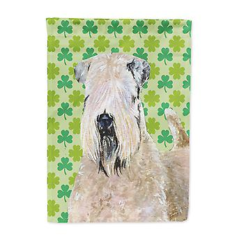 Carolines Treasures  SS4424-FLAG-PARENT Wheaten Terrier Soft Coated St. Patrick'