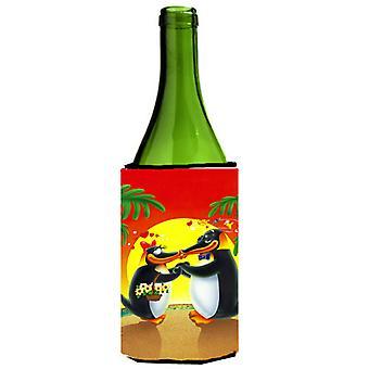 In Love Valentine's Day Penguins Wine Bottle beverage Insulator Hugger