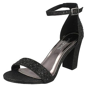 Ladies Anne Michelle Diamante Sandals F10778