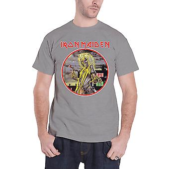 Da banda Iron Maiden T camisa assassinos círculo logotipo oficial Mens nova Heather Grey
