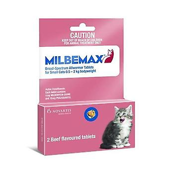 Milbemax Wormer For Kittens and Small Cats 1-4lbs (0.5-2kg) - 2 Tablets