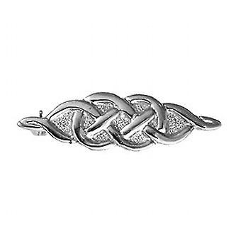 Silver 11x38mm Celtic knot design Brooch