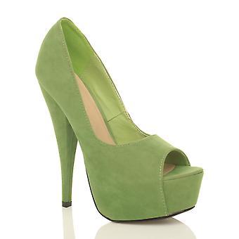 Ajvani womens plate-forme de haut talon peep toe partie Cour chaussures sandales
