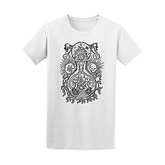 Back&White Alchemy Symbols Tee Men's -Image by Shutterstock
