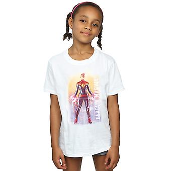 Filles de Marvel Captain Marvel aquarelle T-Shirt