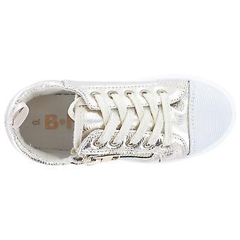 Girls Buckle My Shoe Glitter Gold Low Top Fashion Trainer Shoe Various Sizes