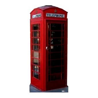 Classic Red Retro Phone Box. Pahvi Cutout