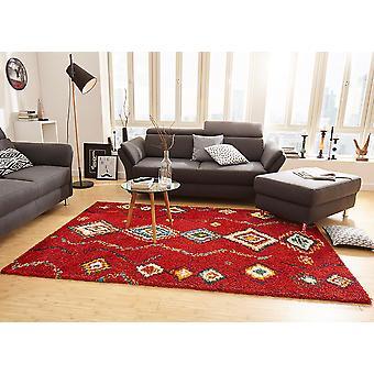 Design carpet deep pile for pile geometric Red