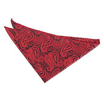 Black & Red Paisley Pocket Square