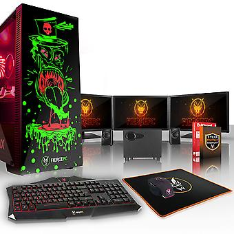 Felle GOBBLER Gaming PC, snelle Intel Core i5 8600 K 4.5 GHz, 2 TB SSHD, 16 GB RAM, RTX 2080 8 GB