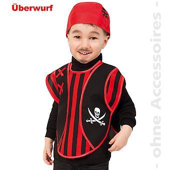 Fantasia infantil de pirata traje-crianças pirata capa caveira pirata