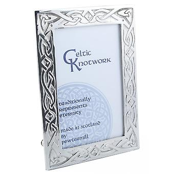 "Celtic Knotwork Eternity Pewter Photo Frame 6"" x 4"""