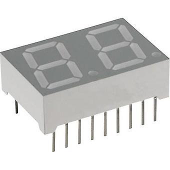 Lite-On 7-segment display blauw 14.22 mm 3.8 V nr. cijfers: 2 LTD-5521 uit