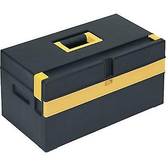Alutec 56560 työkalu rasia (tyhjä) muovi musta, keltainen
