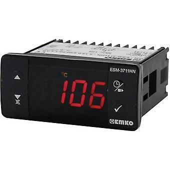 Emko ESM-3711-HN.5.12.0.1/00.00/1.2.0.0 温度コントローラ PTC -50まで +130 °C 10 A リレー (L x W x H) 59 x 77 x 35 mm