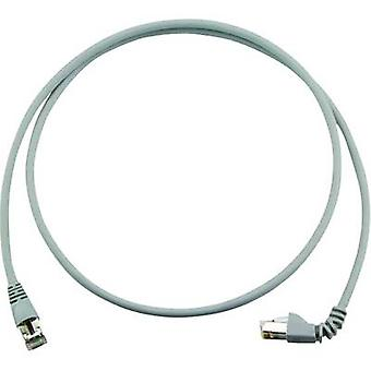 Telegärtner RJ45 L00003A0157 Network cable, patch cable CAT 6A S/FTP 5.00 m Grey Flame-retardant, Halogen-free