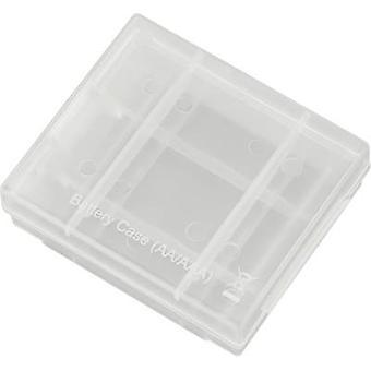 Battery box 4x AAA, AA Conrad energy Battery-Box 4 (L x W x H) 67 x 55 x 22 mm