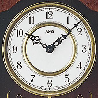 fashionable rustic wall clock with pendulum painted quartz wooden cabinet Walnut colours
