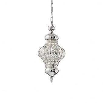 Ideal Lux Nawa 3 Single Pendant Light Argento