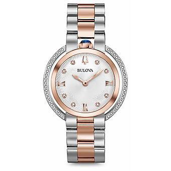 Bulova Womans Rubaiyat Two Tone Diamond 98R247 Watch