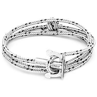 Âncora e União da equipe prata e pulseira - traço cinzento da corda