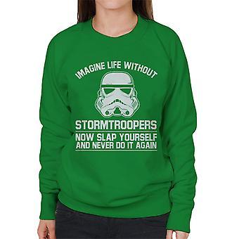 Stormtrooper originale immaginare la vita senza Felpa donna