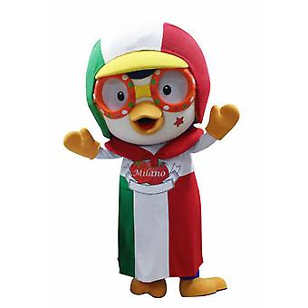 mascot bird with a CAP and apron SPOTSOUND