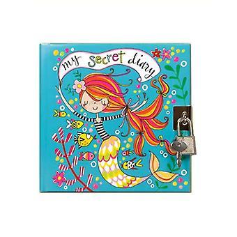 Rachel Ellen Mermaid Design Secret Diary With Padlock and Key